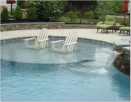 Add A Sun Shelf To Your Pool